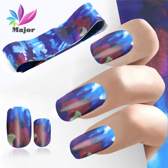 Fashion Design Nail Stickers Nail Foil Transfer Film Technology Dark