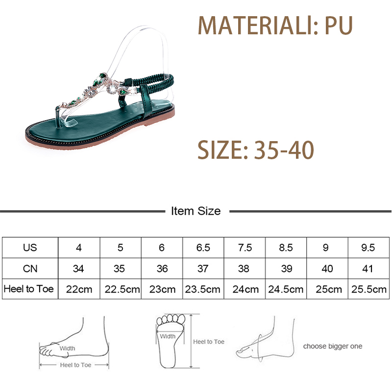 6f02c26ccfe1e2 Women crystal flat Roman elastic band Sandals Shoes Woman Casual quality  Cross Strap Ethnic Flip Flop Flat Sandals Ms.Noki-in Low Heels from Shoes  on ...