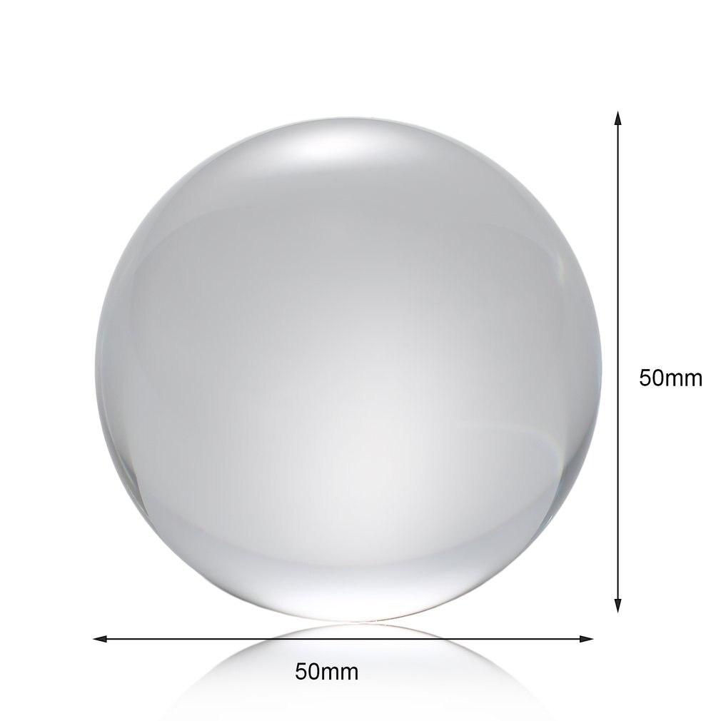 Crystal Ball Quartz Glass Transparent Ball Spheres Glass Ball Photography Balls Crystal Craft Decor Feng Shui 60mm/80mm/100mm