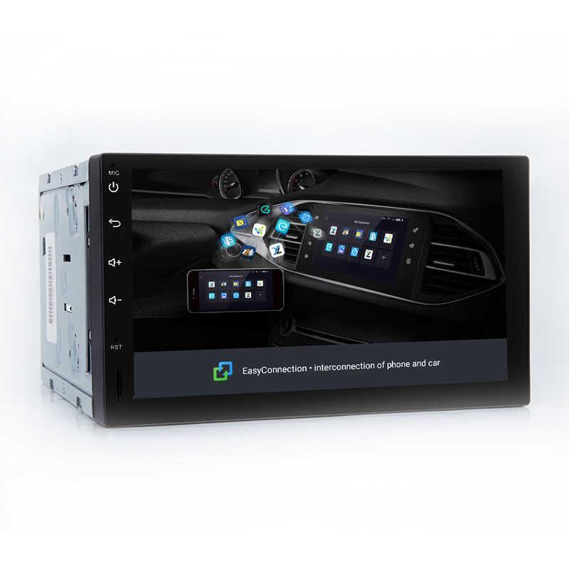 7 дюймов Android 8,1 универсальный автомобильный мультимедийный радио плеер стерео головное устройство рулевое колесо без DVD 4 ядра Wi Fi gps навигации FM