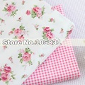 1M Korean rural princess rose Series Fabric Flower Printed Cotton Fabric Patchwork Fabric Home Textile Material Cloth for Sewing