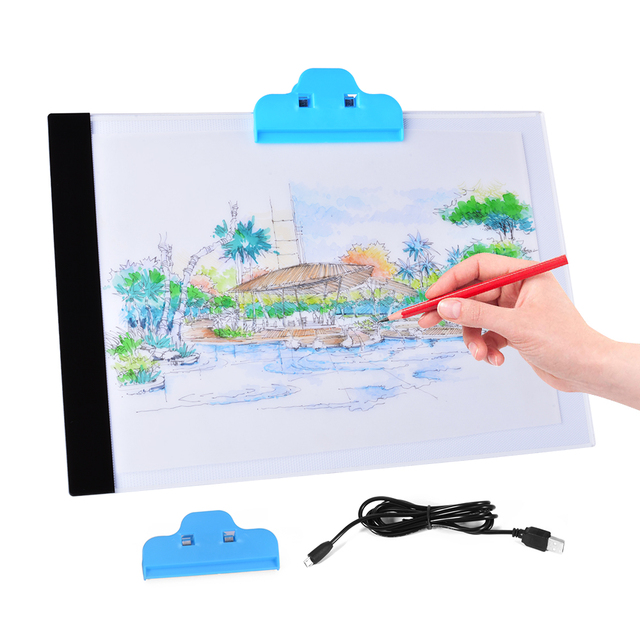 Quality Pratical 4mm Ultrathin A4 LED Light Pad Copy Pad Drawing Tablet LED Tracing Painting Board Light Box Without Radiation