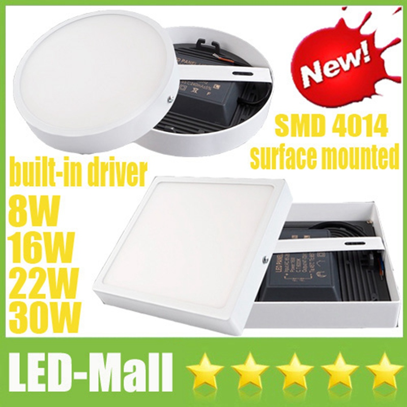 Popular 8W 16W 22W 30W SMD4014 LED Panel Light Downlights CRI>88 Built-in Driver Fixture ...