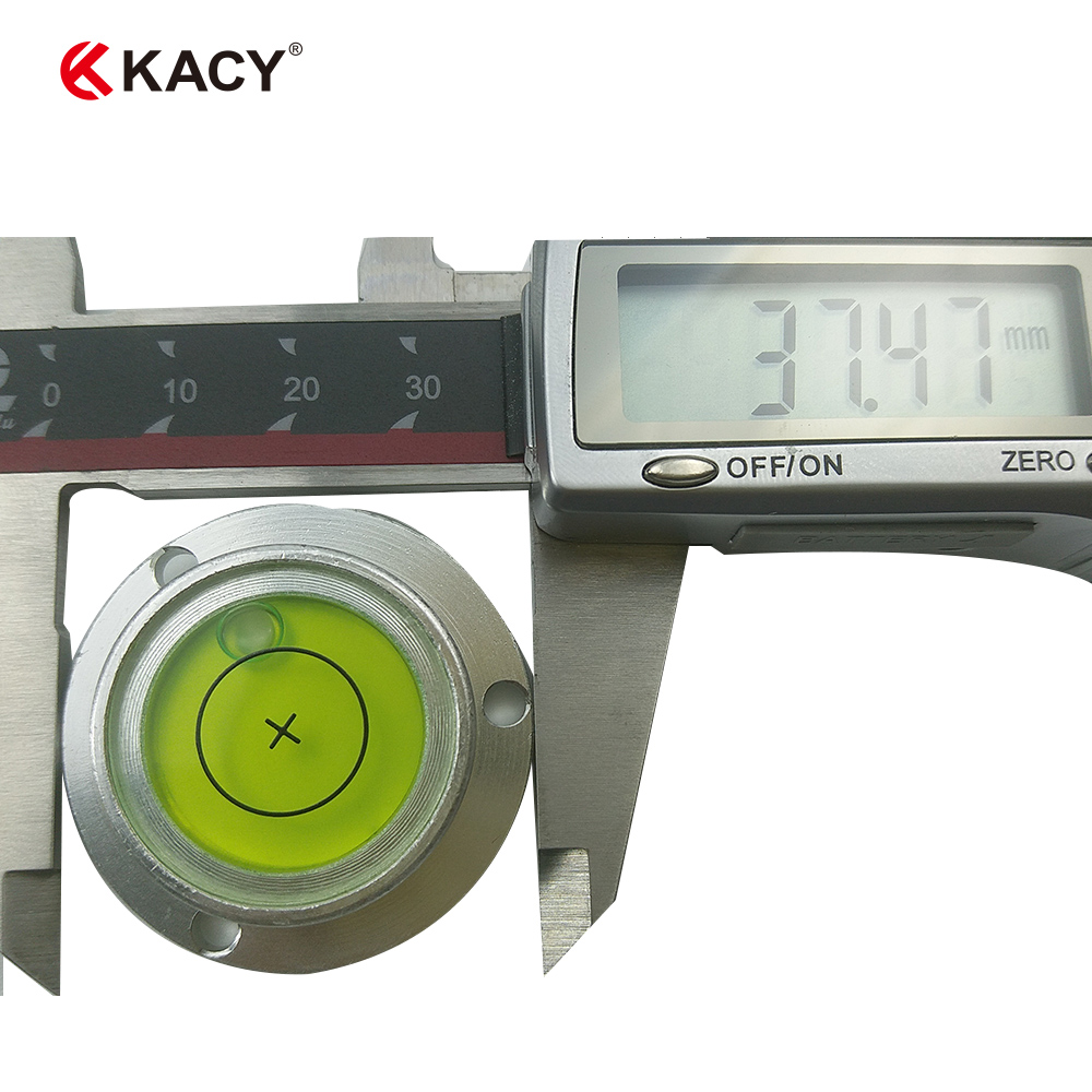 KACY 38*28*12mm high accuracy metal bubble level bulls eye Level for professional level instrument variety models available round bubble level mini spirit level bubble bullseye level measurement instrument