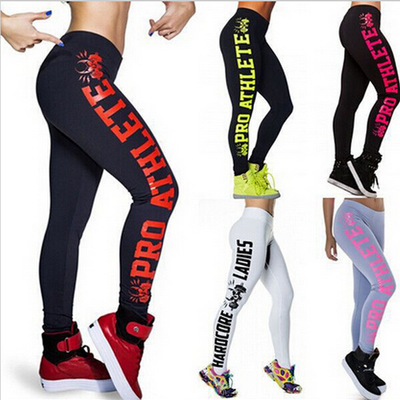 Womens Harajuku Fashion Letter Printed Fitness Leggings Casual Sexy Modal Sportwear Leggings