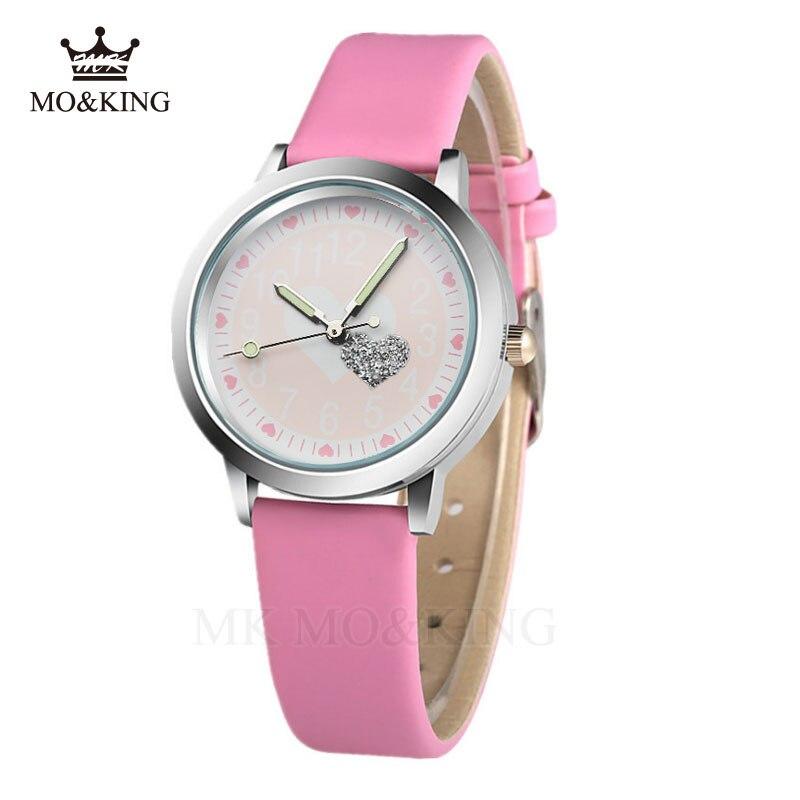 Luxury Brand Children's Watch Fashion Love Cartoon Student Clock Leather Luminous Design Boys And Girls Watch Relogios Relogio