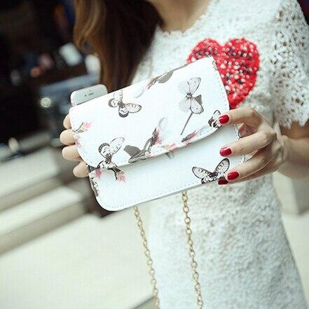 Four Seasons модели цветы бабочки мешок Китайский ветер печати цепи сумочка личность небольшой площади пакет Бесплатная Доставка