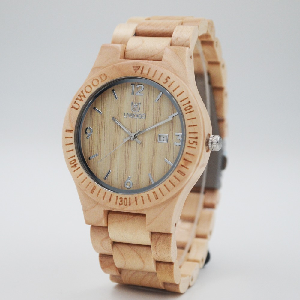 2016 Top Luxury Brand UWOOD Men's Wooden Watch Men Relogio Quartz Movement Sandal Wood Watches Casual WoMen Wristwatch Of Unisex fashion casual style mens dress wooden wristwatch for men watch wood top brand luxury antique wooden sandal men s quartz watches