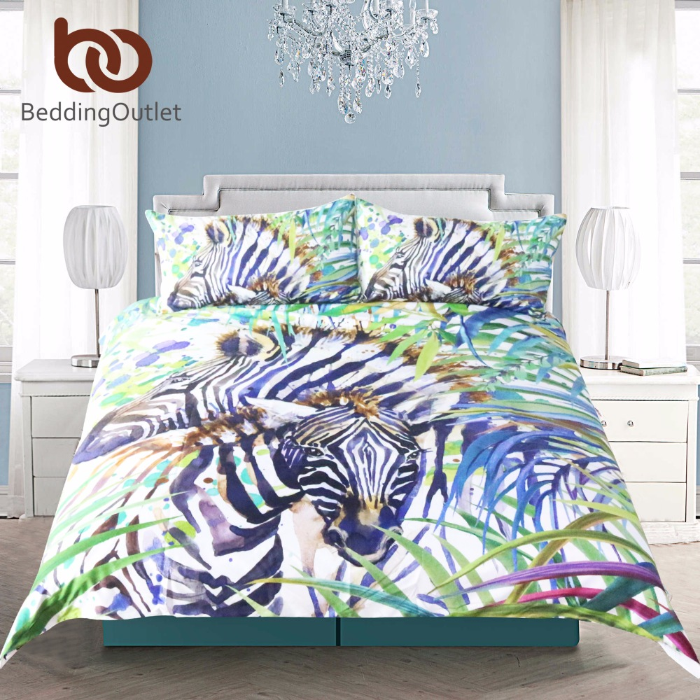 online get cheap natural bedding sets aliexpresscom  alibaba group - beddingoutlet safari zebra duvet cover set  pcs watercolor wild exoticanimal nature bedding set super