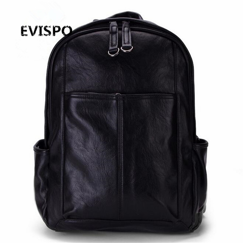 European and American style Solid high quality leather men backpack shoulder bag Schoolbag computer Travel bag