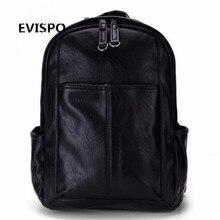 Европейский и Американский стиль Твердые высокое качество мужская кожаная сумка на плечо рюкзак Школьный компьютер Дорожная сумка женщины рюкзак