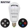 AC85-265V 4W White/RGBW Rotating Snowflake Projector Led Party DJ KTV Pub Bar Xmas Stage Light Christmas E27 project Bulb lights