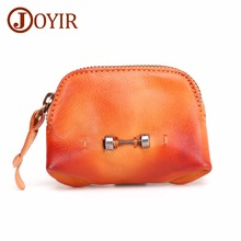 JOYIR Women Genuine Leather Coin Purse Fashion Design Female Change Purse Card Holder Wallet Small Purse Coin Wallet New цены