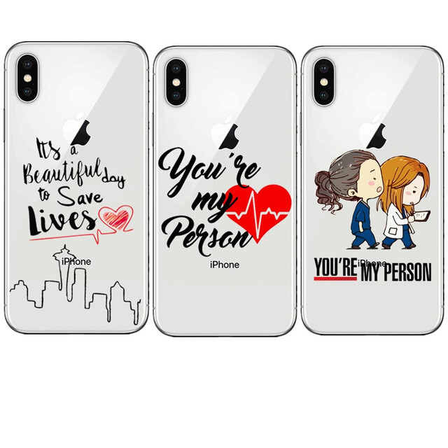 Greys Anatomy You are my person heart Clear Soft silicon TPU Phone ...