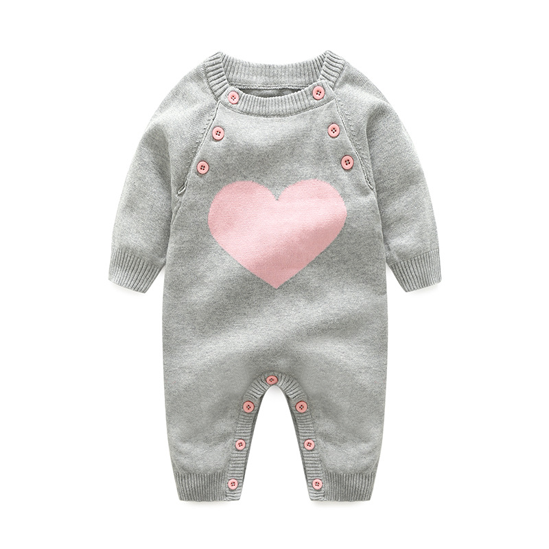 Baby   Rompers   Long Sleeve Newborn Boys Jumpsuits Clothing 100% Cotton Knitted Toddler Girls Overalls Winter Warm Children Outfits