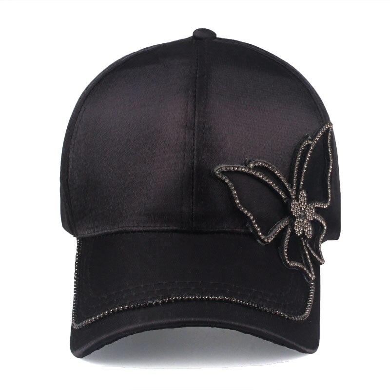 casquette noir papillon strass