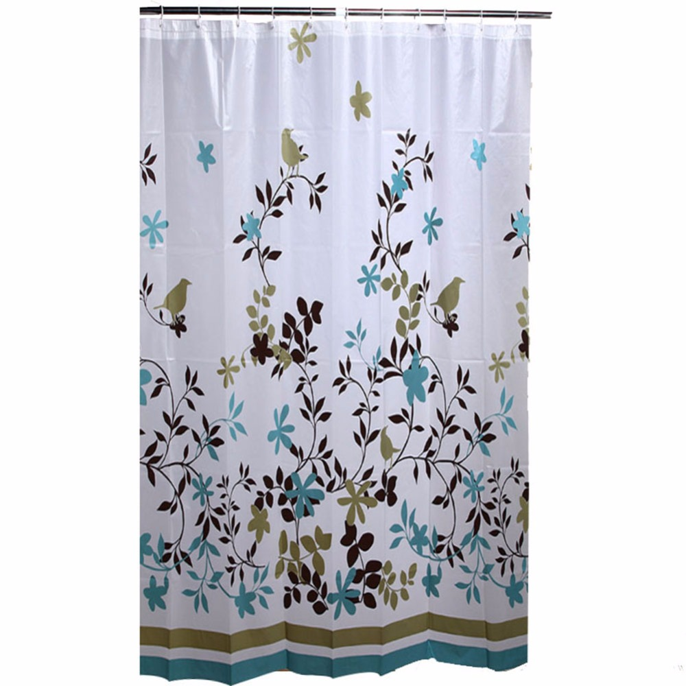 Peva shower curtain nautical design - 180x180cm Pvc Free Peva 8 Gauge Tree Shower Curtain Liner For Bathroom With 12