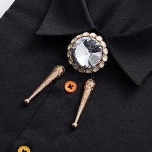 Image 1 - Free Shipping Summer mens male man fashion casual Retro Cross Jeweled Rope Large Diamond Korean Bow Tie BOLO Poirot TIE necktie