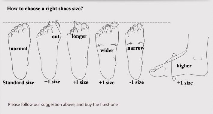 right shoes size
