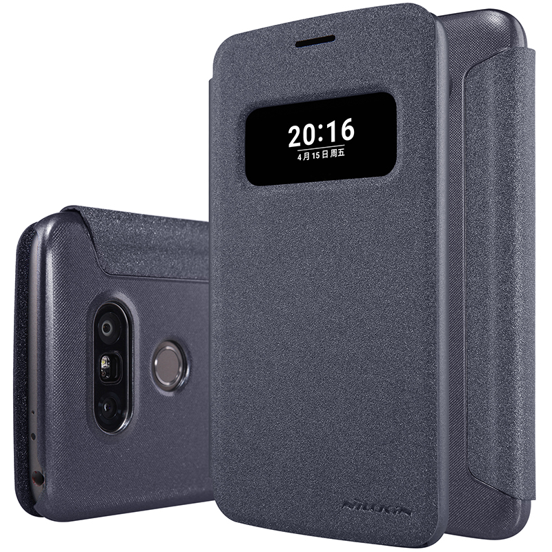 cases for lg g5 Flip Case Nillkin 5.3inch Hollowed-Out Window Leather Case For LG G5