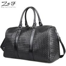 کیف ZEROFRONT جدید طراحی محبوب PU چرم Duffel آخر هفته چرم کیف دستی چند منظوره قابل حمل کیف دستی سیاه و سفید