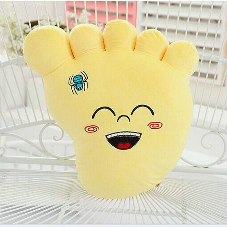 cute font b plush b font foot toy new yellow creative big foot pillow doll gift