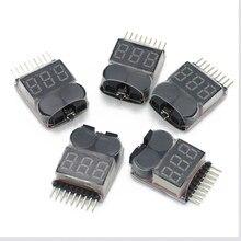 Probador de voltaje de batería Lipo, monitor de alarma de 1-8s, 100 V-3,7 V, 5 / 10 / 20/50/22,2 Uds.