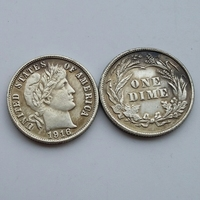 90% silver or silver plated 1916 Date Barber One Dime Coin Copy High Quality