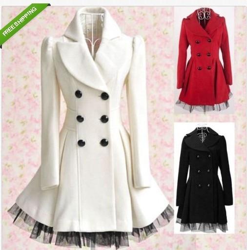 Hot Women Lady Girl Winter Slim Fit Dress Coat Long Jackets ...