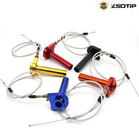 Aluminum Throttle turn Grip Quick Twister + cable used at all brand motorcycle 22mm handbar