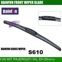 Rainfun مخصصة شفرة ممسحة السيارة ل 07-14 ميتسوبيشي باجيرو ، 22 + 20 بوصة سيارة ممسحة ممسحة السيارات لينة ، 2 قطع الكثير