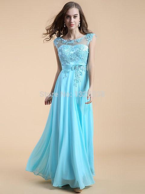 891e5a7a31 Beautiful Evening Dresses Uk Formal Women Large Size Dress Hire Midnight  Blue A-Line Floor-Length Built-In Bra Pea 2015 Discount