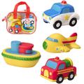 Brinquedo do Banho do bebê Spray de Água Brinquedo Macio Animal Marinho E Veículo de Segurança Estilo