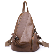 цена на 2018 Vintage Casual School Shoulder Bags Female PU Leather Backpacks for Women Teenage Girls Bagpack Lady's Travel Bag Mochilas