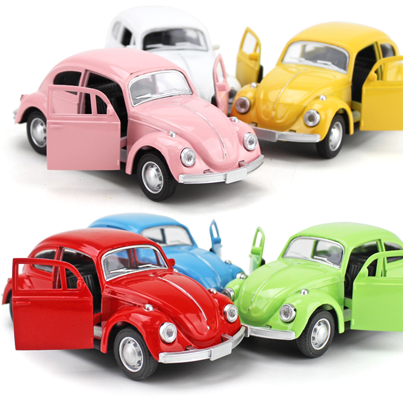 Brand New 1/32 Scale Germany Volkswagen Vw Classic Beetle Bug Diecast Metal Pull Back Car Model Toy For Gift/Children Mini Car