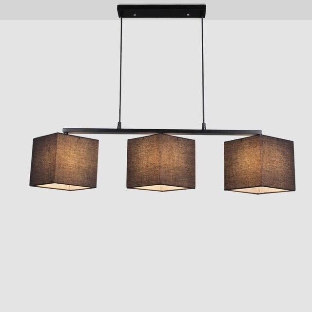 Vintage Pendentif Lampe Tissu Lustre Plafond Luminaires Pour Salle A