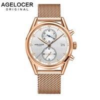 Для мужчин s часы швейцарские лучший бренд AGELOCER часы роскошные золотые часы человек 2019 спортивные часы с хронографом для Для мужчин Relogio