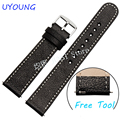 For Pebble Time Steel Smart Watch band Genuine Leather Watchband 20mm22mm New arrival  Fit Pebble Time round Strap