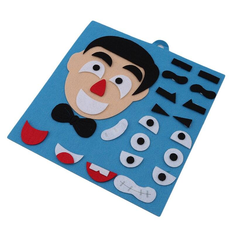 Hot Sale 3D Parents Kids Five Sense Organs DIY Assembling Puzzles Jigsaw Children Recognition Training Educational Toys 1Set