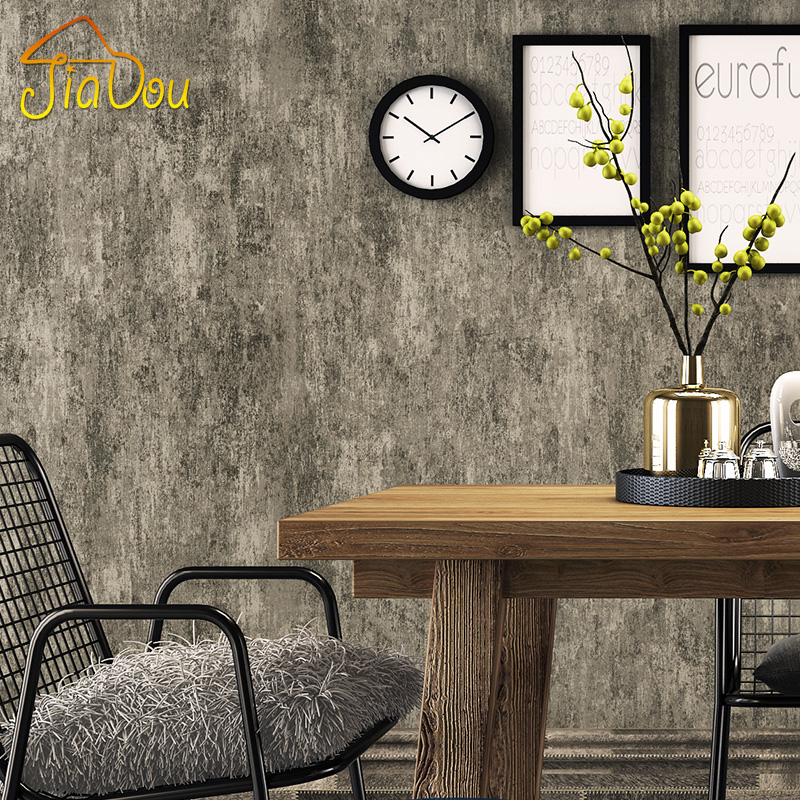 American Country Retro Solid Color Wallpaper Cement Pattern Non-woven Wallpaper For Walls Living Room Wall Covering Home Decor high quality solid color letters pattern removeable wall stickers