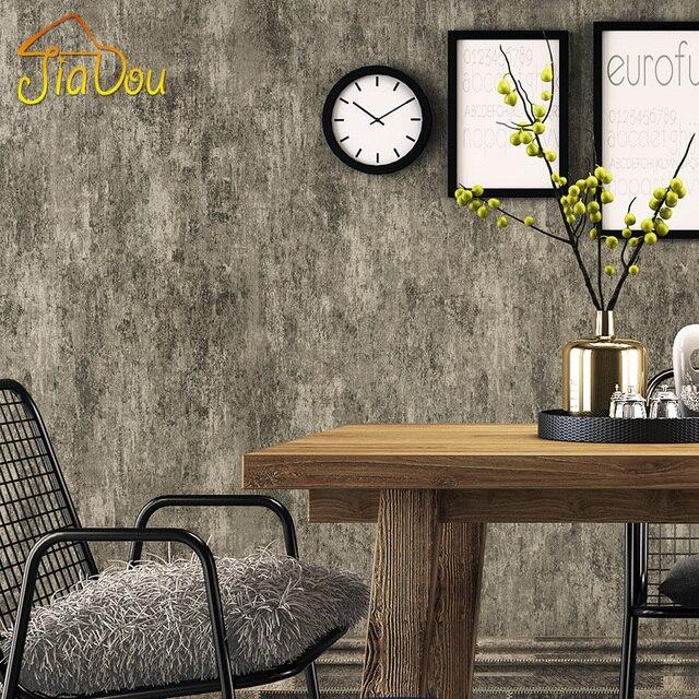 Amerikaanse Land Retro Effen Kleur Behang Cement Patroon Vliesbehang ...