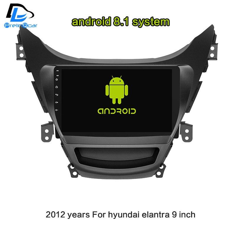 4 г LTE wifi Android 8,1 Автомобильный gps мультимедийный Видео Радио плеер в тире для hyundai Elantra 2012 2018 лет Навигация стерео