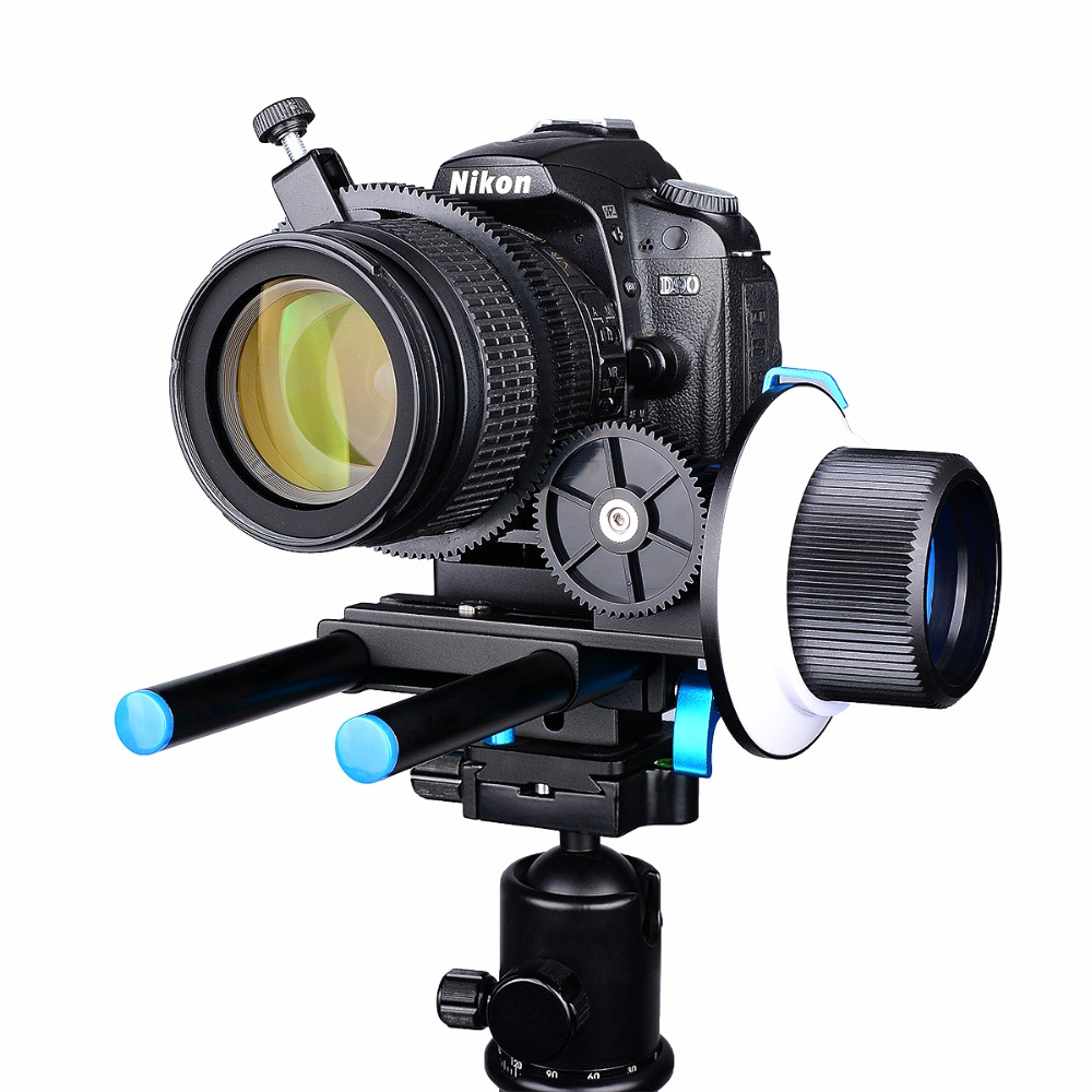 YELANGU F1 Aluminum Alloy Adjustable Precise Focusing Follow Focus Fit 15mm Rod Rig 52mm to 86mm Lens For5D2/7D/70D/700D/A7R/GH4 85mm f1 8 aluminum alloy manual focus lens set for canon black