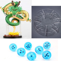 2017 New Dragon ball Z Super Saiyan figuras Shenren 1 figure dragon shenlong + 7 crystal balls 3.5cm + 1 shelf action figure toy
