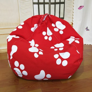 Buy Kids Bean Bag Sofa Cover Chair For Room Without Filler Chaise Bedroom Lazy Bag Chair Sofa Cama Puff Asiento Red Sofa Cover
