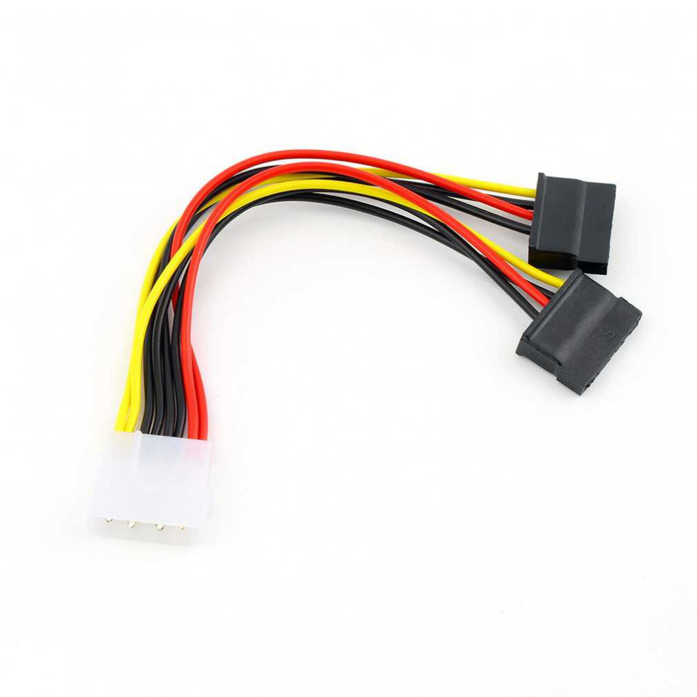 New 4 Pin IDE Molex to 2 of 15 Pin Serial ATA SATA HDD Power Adapter molex hookup wires dolgular com  at bakdesigns.co