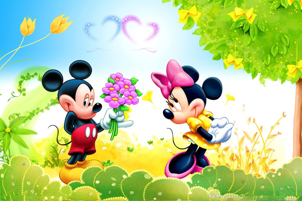 SHENGYONGBAO 210cm 150cm Vinyl Backdrops for Photography Mickey Mouse Photo Studio Background NML 1069 in Background from Consumer Electronics