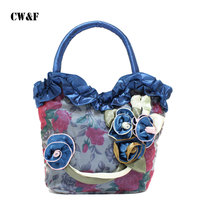 2016 New Mom Grocery Shopping And Leisure Hand Bag Small Bag Fashion Handbags Small Cloth Lace