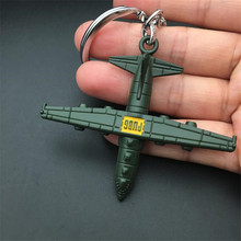 Game PUBG Plane Key Chain Playerunknowns Battlegrounds Cosplay Props Alloy Armor Model