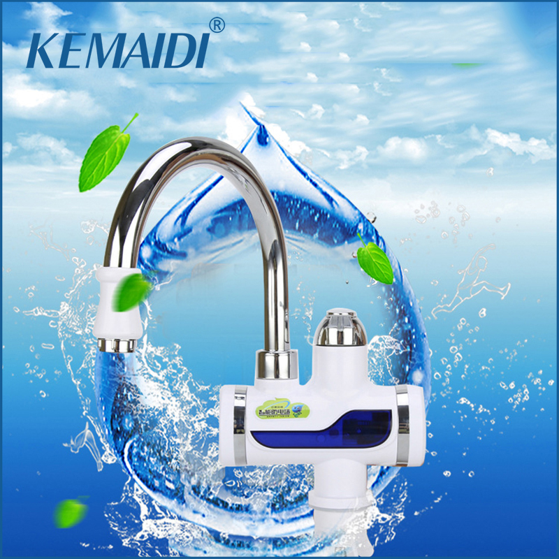 KEMAIDI New Arrival Water Heater Bathroom Kitchen instant electric water heater tap LCD temperature display Tankless